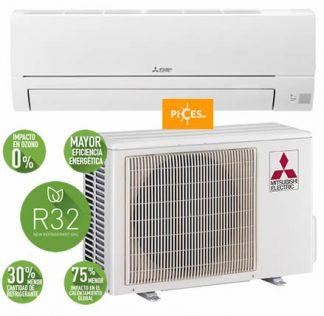 aire acondicionado mitsubishi MSZ HR 25 VF 1x1 2500 frigorías