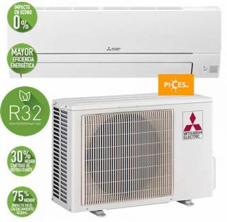 aire acondicionado mitsubishi MSZ HR 35 VF 1x1 3000 frigorías