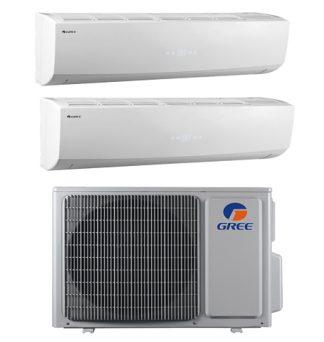 conjunto de aire acondicionado Gree FM 18 OU 5,2KW + 2 unidades interiores Lomo 12